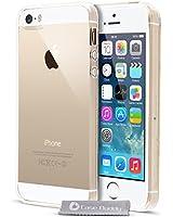 Case Buddy TM Transparent Housse etui coque pochette silicone gel + film écran pour iPhone 5S iPhone 5