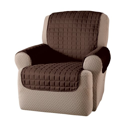 Innovative Textile Solutions Microfiber Wing Recliner Protector, Chocolate, 65