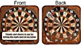 Cheers to You Placecard Dart Board Set of 12 Pub Coasters