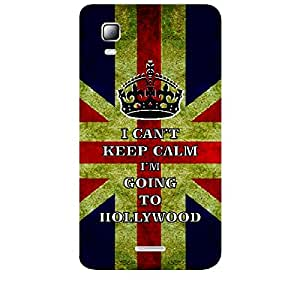 Skin4gadgets I CAN'T KEEP CALM I'm GOING TO HOLLYWOOD - Colour - UK Flag Phone Skin for MICROMAX CANVAS DOODLE3 (A102 )
