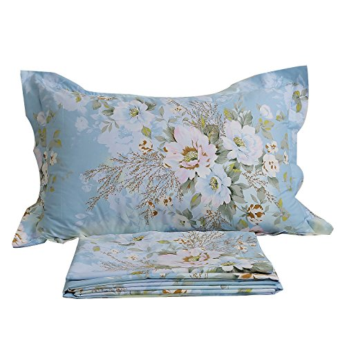 FADFAY Shabby Floral Print Bed Sheet