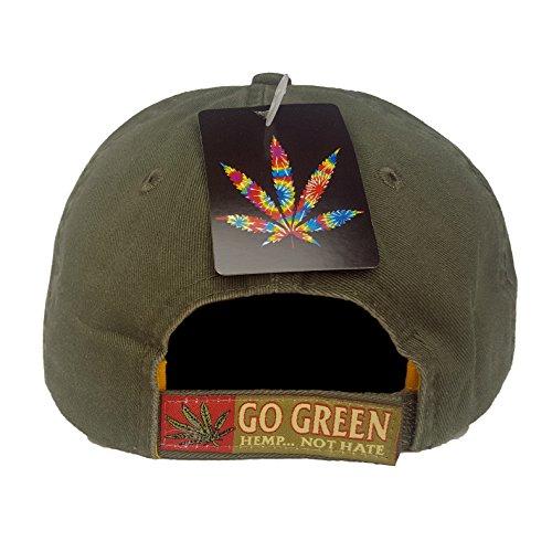 Hemp-Not-Hate-Cannabis-Marijuana-Leaf-Weed-MJ-Ganja-Baseball-Cap-Hats