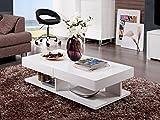 Matelpro-Table basse design blanc laqué Alvina...