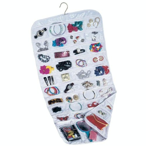80 Pocket Hanging Canvas Jewelry / Accessory Organizer