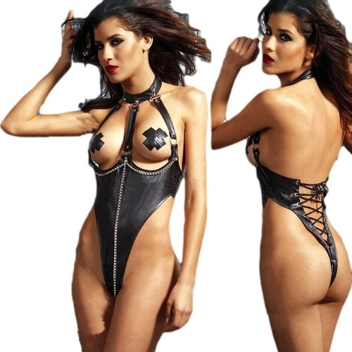Sexy String Body mit Halsbindung und Ketten auch im Schritt Größenwahl: 34-38 oder 40/42 bunny-shop