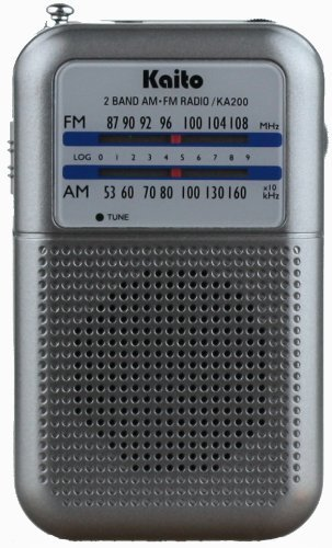 Kaito Ka200S Pocket Am/Fm Radio, Gray Color: Gray