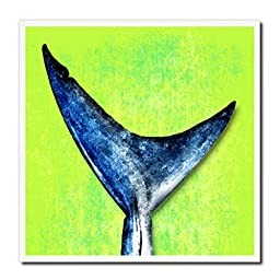 Shark Fish Modern Art 14627 Custom Framed Giclee Print on Canvas Nautical Beach Fishing Design Restaurant Home Wall Interior Decoration Souvenir Gift Ideas - Green 10\