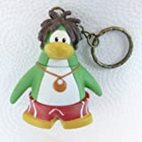 Key Chain - Clip On - SPECIAL - Club Penguin SURFER 2 Vinyl Mini Figure - Also GREAT Christmas Ornament - Cake Topper - Mix and Match Body Sections - Highly Collectible and Hard to Find