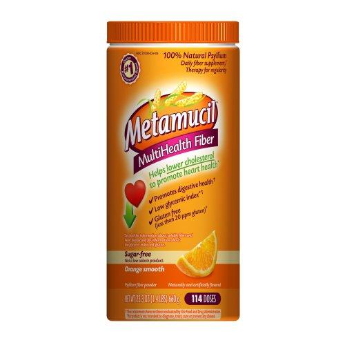Metamucil Orange Sugar Free Smooth Texture Powder 114 Doses