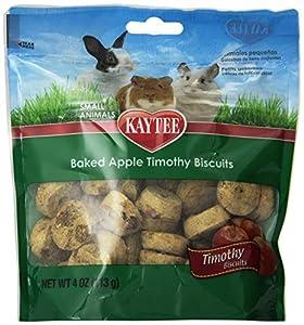 Kaytee Timothy Hay Baked Apple Small Animal Treats, 4-Ounce