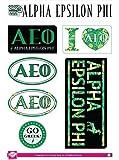 Alpha Epsilon Phi Sticker Sheet - Lifestyle Theme. 8.5
