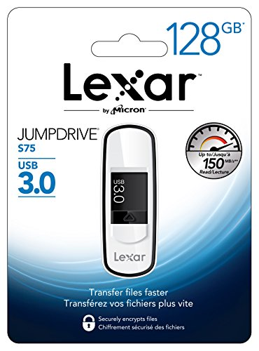 Lexar雷克沙  JumpDrive S75 USB 3.0 128GB U盘图片