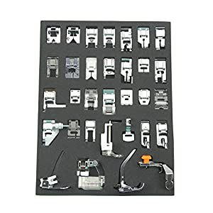 32pc Domestic Sewing Machine Presser Foot Feet for Brother Singer Janome home from Janome