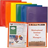 StoreSMART® Plastic Archival Folders Primary Colors 6-pack: 1 Each of Six Bright Colors (R900PCP6)