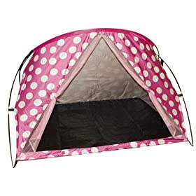 Large Family Beach Cabana - Pink Polka Dots