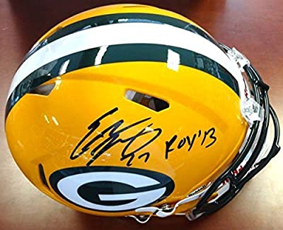 "Eddie Lacy Autographed Green Bay Packers Full Size Authentic Speed Helmet ""ROY '13"" PSA/DNA"