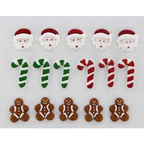 Royal Icing Decorations Christmas Flat 3 By GSA