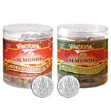 Chocholik Dry Fruits - Almonds Smoked Barbeque And Smoked Jalapeni With 5gm X 2 Pure Silver Coins - Diwali Gifts...