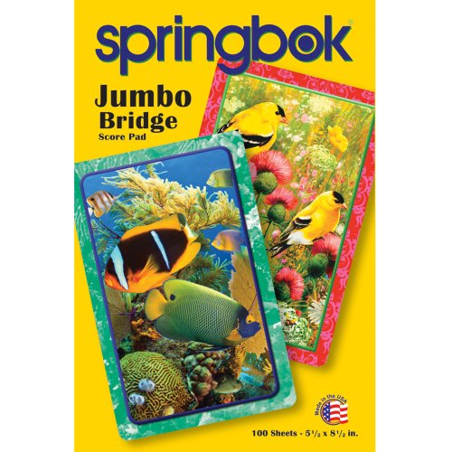 Springbok Puzzles Goldfinch Jumbo Print Playing Card Score Pad (100 Sheets)
