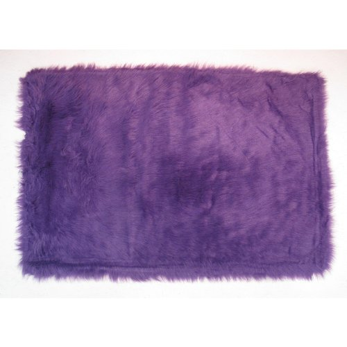 Flokati Area Rug Purple 39