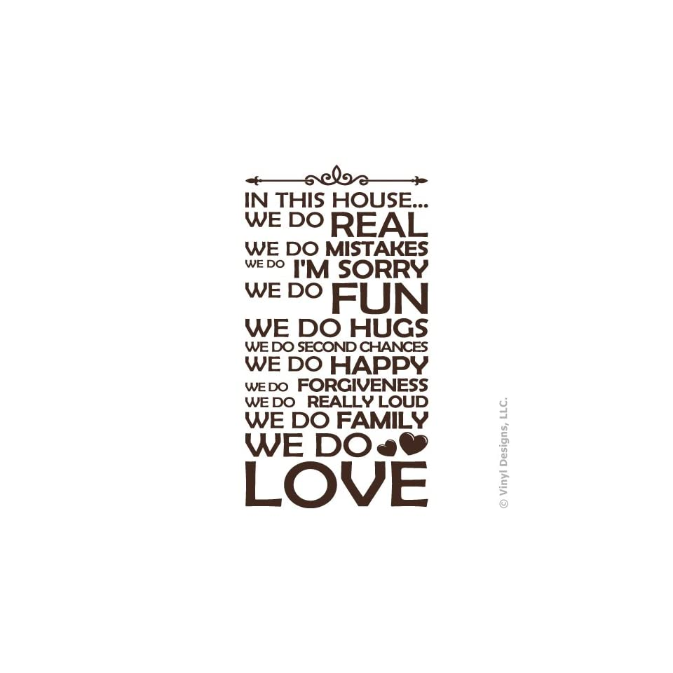 In This House We Do Family, Love Quote Vinyl Wall Decal ...