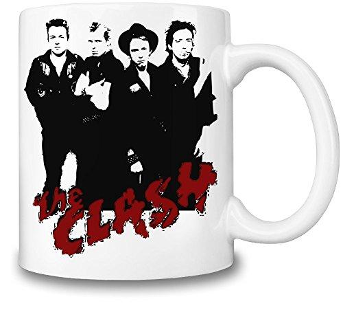 The Clash Illustration Tazza Coffee Mug Ceramic Coffee Tea Beverage Kitchen Mugs By Genuine Fan Merchandise