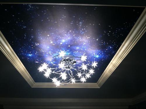 Possini Euro Design Galaxy Chrome 28 1 4 Quot Wide Ceiling