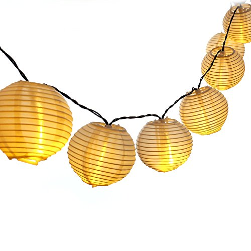 LUCKLED Outdoor Fairy Lantern Solar String Lights, 19.7ft 30 LED Christmas Globe Lights for Indoor and Outdoor, Home, Lawn, Garden, Wedding, Patio, Party, and Holiday Decorations (Warm White) (Outdoor Lantern Lighting String compare prices)