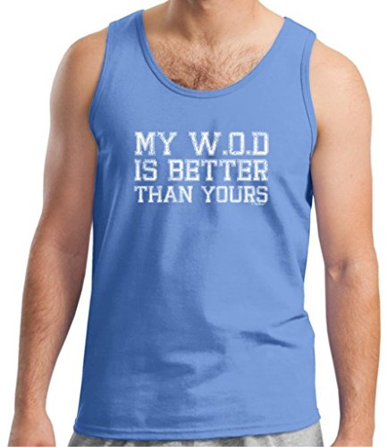 My Wod Is Better Than Yours Tank Top Small Carolina Blue