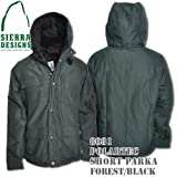 Polartec Short Parka 8031: Forest / Black