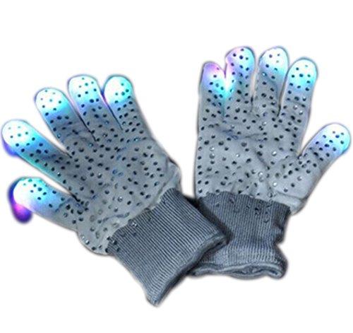 Novelty LED Noctilucent Glove Flashing Finger Lighting Gloves 7 Modes Colors Light Show for Dance Bars
