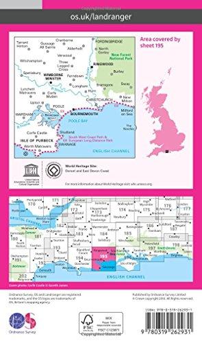 Bournemouth & Purbeck, Wimborne Minster & Ringwood (OS Landranger Map)