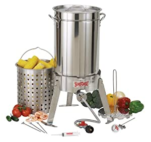 Bayou Classic 1175 30-Quart Stainless Steel Turkey Fryer Kit with Perforated Basket (Discontinued by Manufacturer)