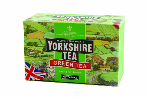Taylors of Harrogate Yorkshire Green Tea Scented withJasmine, 40-Count Tea Bags (Pack of 6)