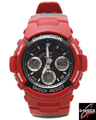 【即納】CASIO G-SHOCK(カシオ Gショック) 海外モデル 腕時計 アナデジ AW-591RL-4ADR レッド●並行輸入商品●