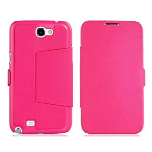 Cross Groove Design PU Protective Case for Samsung Galaxy Note 2/ N7100 (Rose Red)