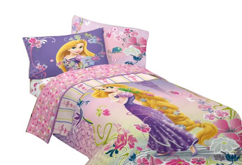 Disney Tangled Magic 64 By 86-Inch Microfiber Comforter, Twin front-94348