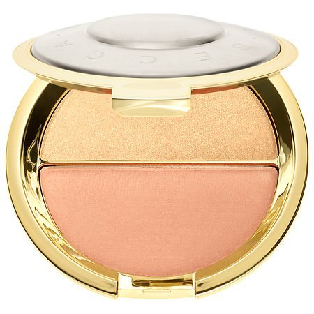 Becca x Jaclyn Hill Champagne Splits Shimmering Skin Perfector Mineral Blush Duo # Prosecco Pop/Amaretto (Mac Pink Split Eye Shadow compare prices)