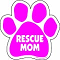 Imagine This 5-12-inch By 5-12-inch Rescue Mom Paw Car Magnet Pink from Imagine This Company
