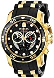 Invicta Mens 6981 Pro Diver Collection Chronograph Black Dial Black Dress Watch