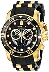 Invicta Men's 6981 Pro Diver Collection Chronograph Black Dial Black Polyurethane Watch