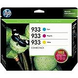 HP 933 (B3B32FN) Cyan/Magenta/Yellow Original Ink Cartridges with Photo Paper, 3 pack