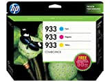 HP 933 (B3B32FN) Cyan/Magenta/Yellow Original Ink Cartridges with Photo Paper, 3 pack