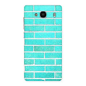 Gorgeous Brick Cyan Back Case Cover for Redmi 2 Prime