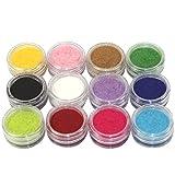 (メイクアップエーシーシー) MakeupAccネイルアートDIY ふわふわベロア調ネイルベルベットパウダー フロッキーパウダー ネイルデコセット 12色入り ネイルパーツ コンテナケース付き [並行輸入品]