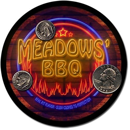 Meadows' Barbeque Drink Coasters - 4 Pack