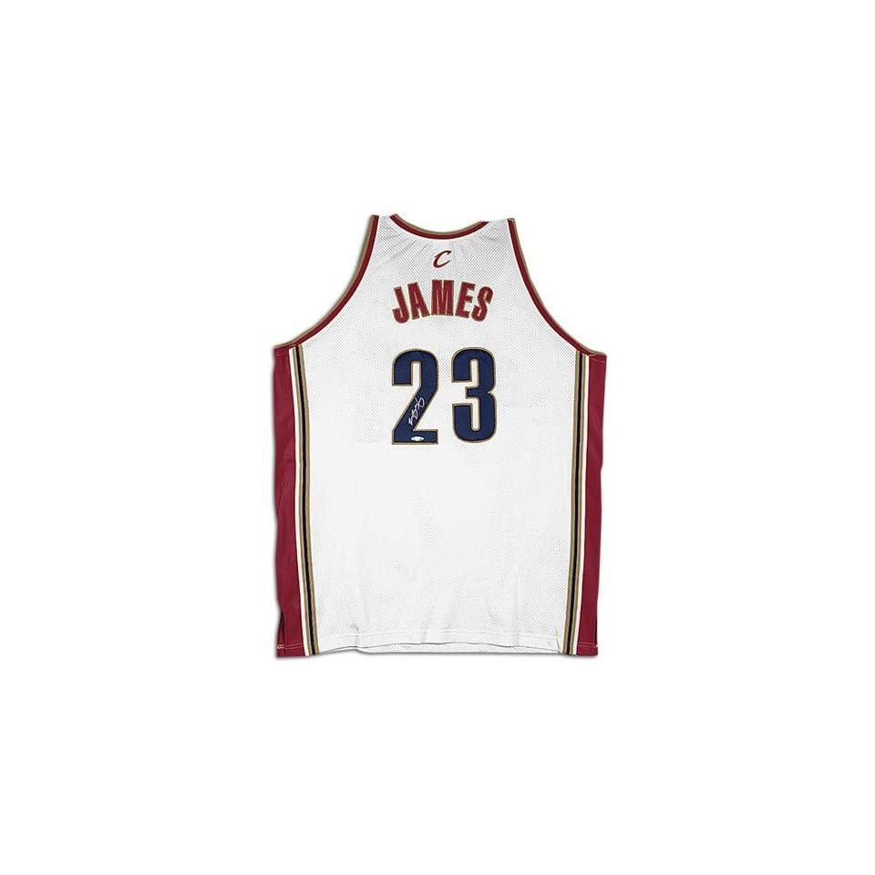 f6243faf8546 Cavaliers Upper Deck LeBron James Autographed Jersey ( White James ...