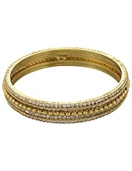 Nakshatra Collection Gold Metal Bangle For Women - B00UTJYI8M