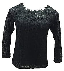Dovekie Women's Black Lace Top
