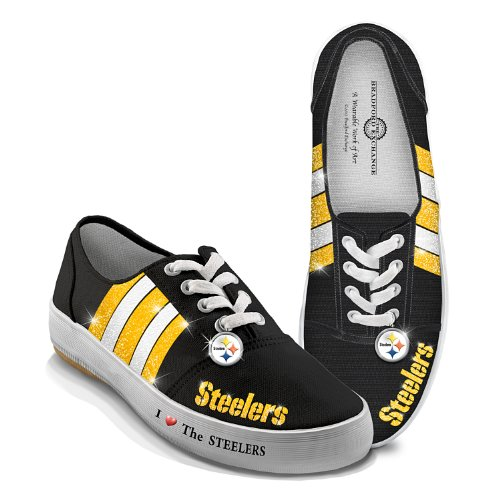 NFL Pittsburgh Steelers Canvas Women's Shoes: I Love The Steelers by The Bradford Exchange: 9 M US women at Amazon.com